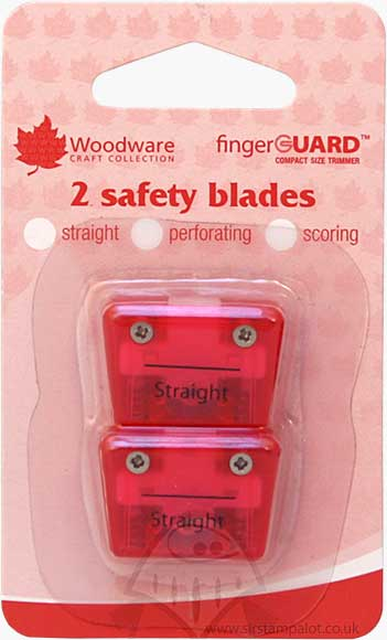 Mini Compact Trimmer Replacement Blades Straight (2 pk)
