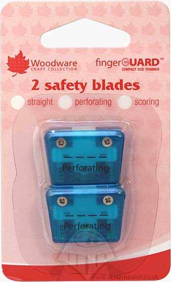 Mini Compact Trimmer Replacement Blades Perforating (2 pk)
