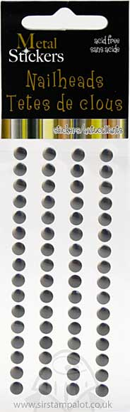 Self Adhesive Nailheads 5mm - Grey