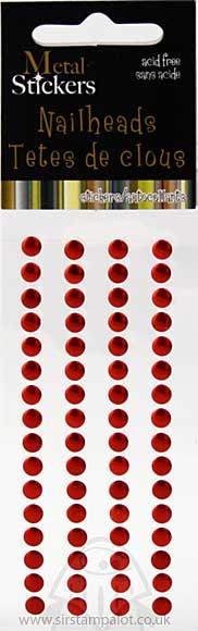 SO: Self Adhesive Nailheads 5mm - Red