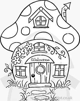 Clear Magic - Mushroom House