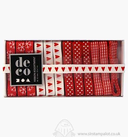 Deco Ribbon Assortment - Red White Harmony