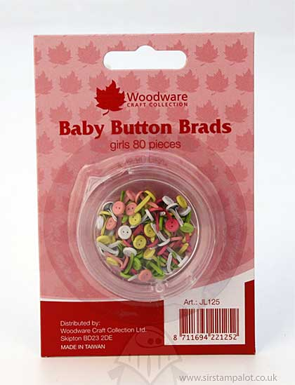 SO: Brads - Girl Baby Buttons (5mm)