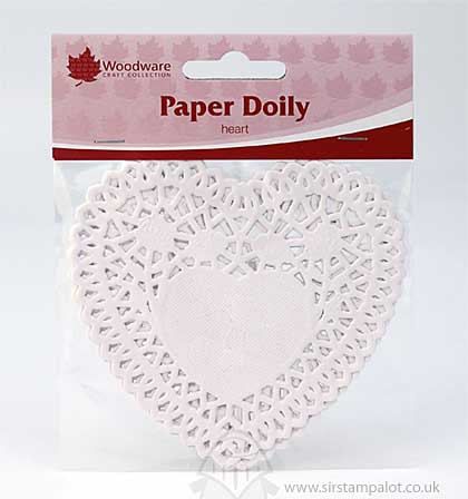 SO: Paper Doily - Heart - White (20PK)