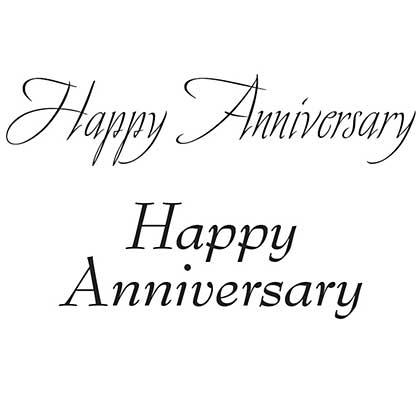 WX13 - Clear Magic Singles - Happy Anniversary