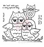 Clear Magic Singles - Owl Family