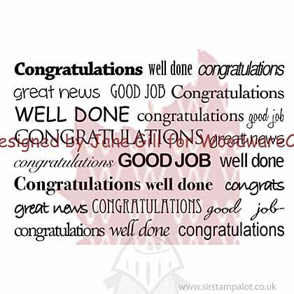 Clear Magic Singles - Congratulations Text Box