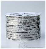 SO: 5mm Metallic Flat Ribbon - Silver