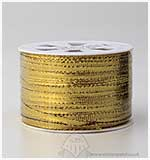 SO: 5mm Metallic Flat Ribbon - Gold