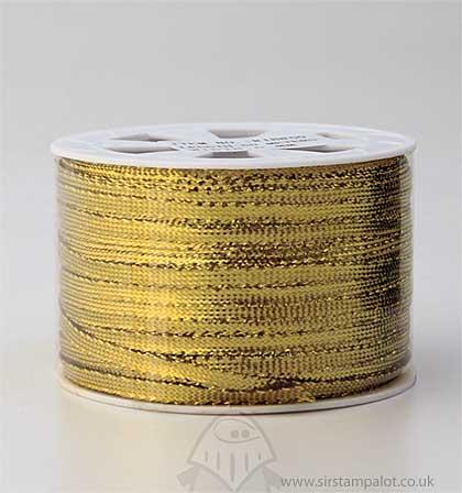 SO: 5mm Metallic Flat Ribbon - Gold