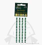 Self Adhesive Nailheads 5mm - Christmas Green