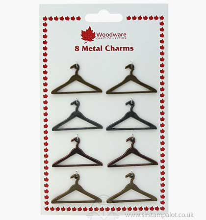Woodware Metal Charms - Coat Hangers (8PK)