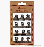 SO: Woodware Small Hinge/Bulldog Clips (12PK)
