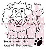 SO: Woodware Clear Stamps 3.5x3.5 Sheet - Lion King