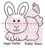 SO: Woodware Clear Stamps 3.5x3.5 Sheet - Hoppy Bunny