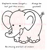 SO: Woodware Clear Stamps 3.5x3.5 Sheet - Elephants Never Forget