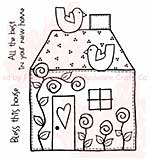 SO: Woodware Clear Stamps 3.5x3.5 Sheet - Bless This House