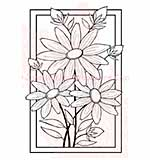 SO: Woodware Clear Stamps 5.5x3.5 Sheet - Boxed Daises Trio