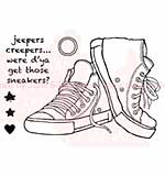 SO: Woodware Clear Stamps 3.5x5.5 Sheet - Sneakers