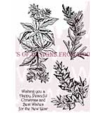 Poinsettia & Spruce - Woodware Clear Magic Stamps
