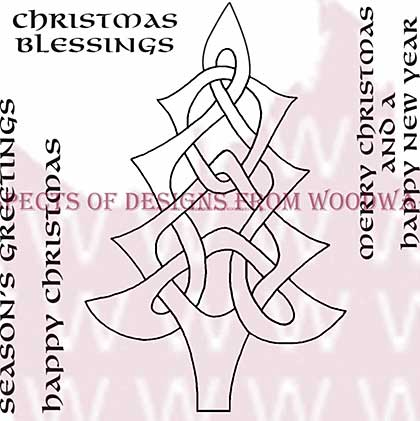 Celtic Tree - Woodware Clear Magic Stamps