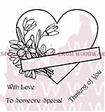 Floral Heart - Woodware Clear Magic Stamps
