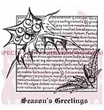 Holly Script - Woodware Clear Magic Stamps
