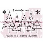 SO: Christmas Trees - Woodware Clear Magic Stamps