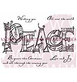 Doodled Peace - Woodware Clear Magic Stamps