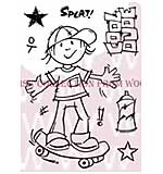 Cool Dude - Woodware Clear Magic Stamps
