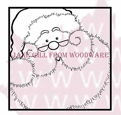 SO: Jolly Santa - Woodware Clear Magic Stamps
