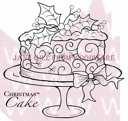 Christmas Cake - Woodware Clear Magic Stamps