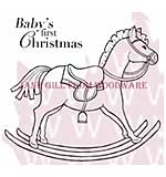 Rocking Horse - Woodware Clear Magic Stamps
