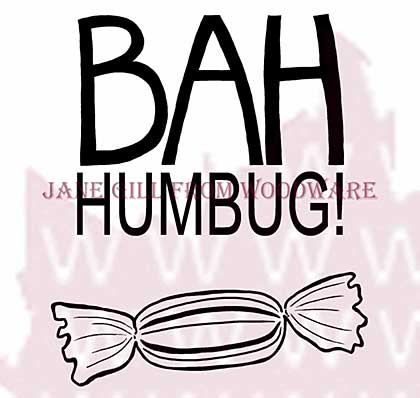 Bah Humbug! - Woodware Clear Magic Stamps