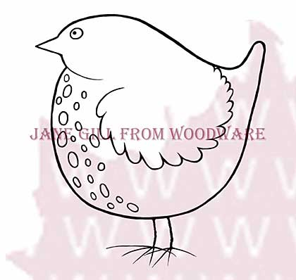 Big Bird - Woodware Clear Magic Stamps