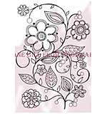 Floral Vine - Woodware Clear Magic Stamps
