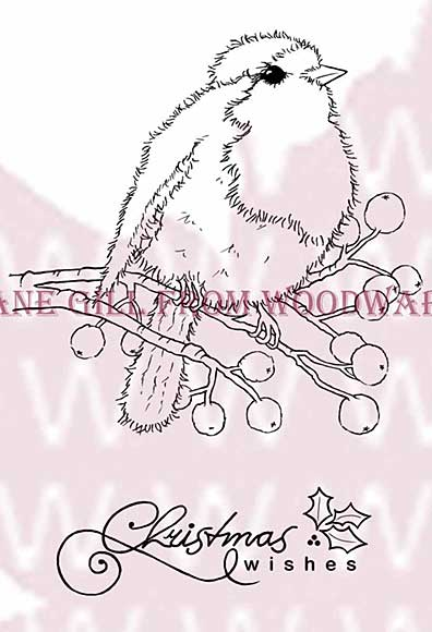 SO: Fluffy Robin - Woodware Clear Magic Stamps