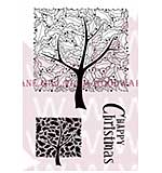Holly Tree - Woodware Clear Magic Stamps