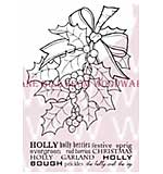 Bunch Of Holly - Woodware Clear Magic Stamps