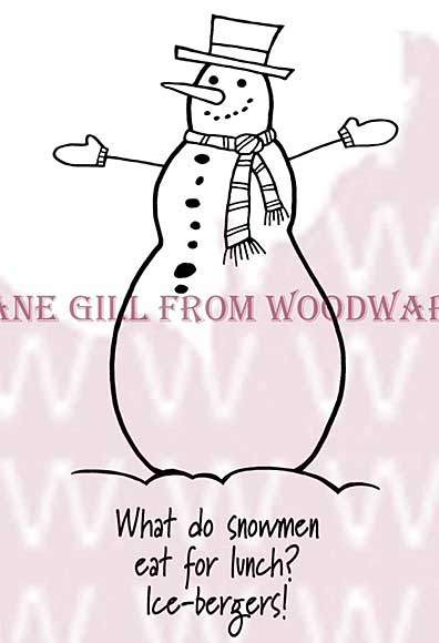 Funny Snowman - Woodware Clear Magic Stamps