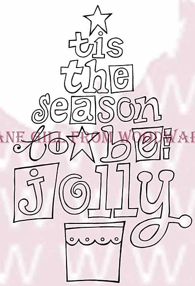 Jolly Tree - Woodware Clear Magic Stamps