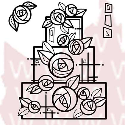 SO: Woodware Clear Stamps - Wedding Cake