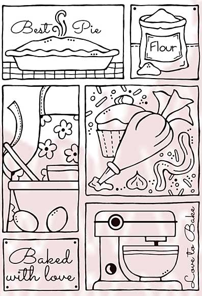 Woodware Clear Stamps - Baking Sampler