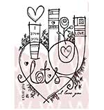 Woodware Clear Stamps - Graffiti Love