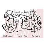 Woodware Clear Stamps - Graffiti Super Star