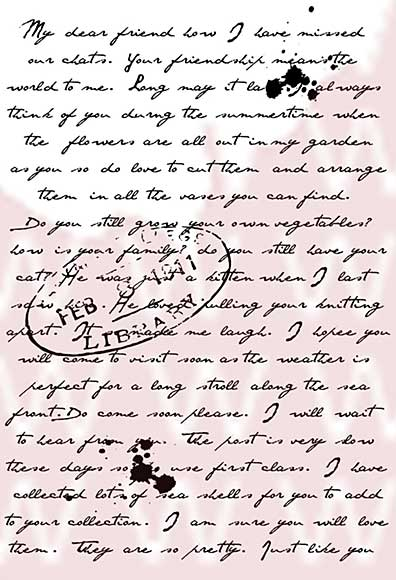 Woodware Clear Stamps - Old Letter