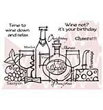 SO: Woodware Clear Stamps - Time To Wine Down