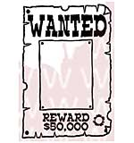 Woodware Clear Stamps - Wanted!