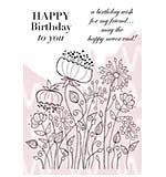 Woodware Clear Stamps - Meadow Flower