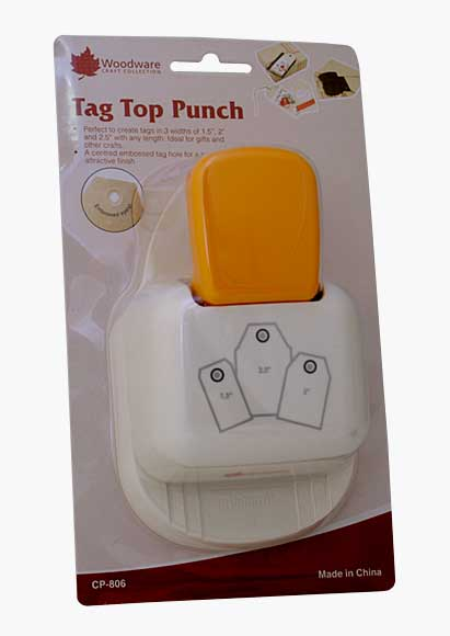 Multi-Tag Top Punch - Straight, with Embossed Eyelet (3 sizes)